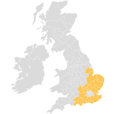 Map of  Architas Business Development SE UK coverage